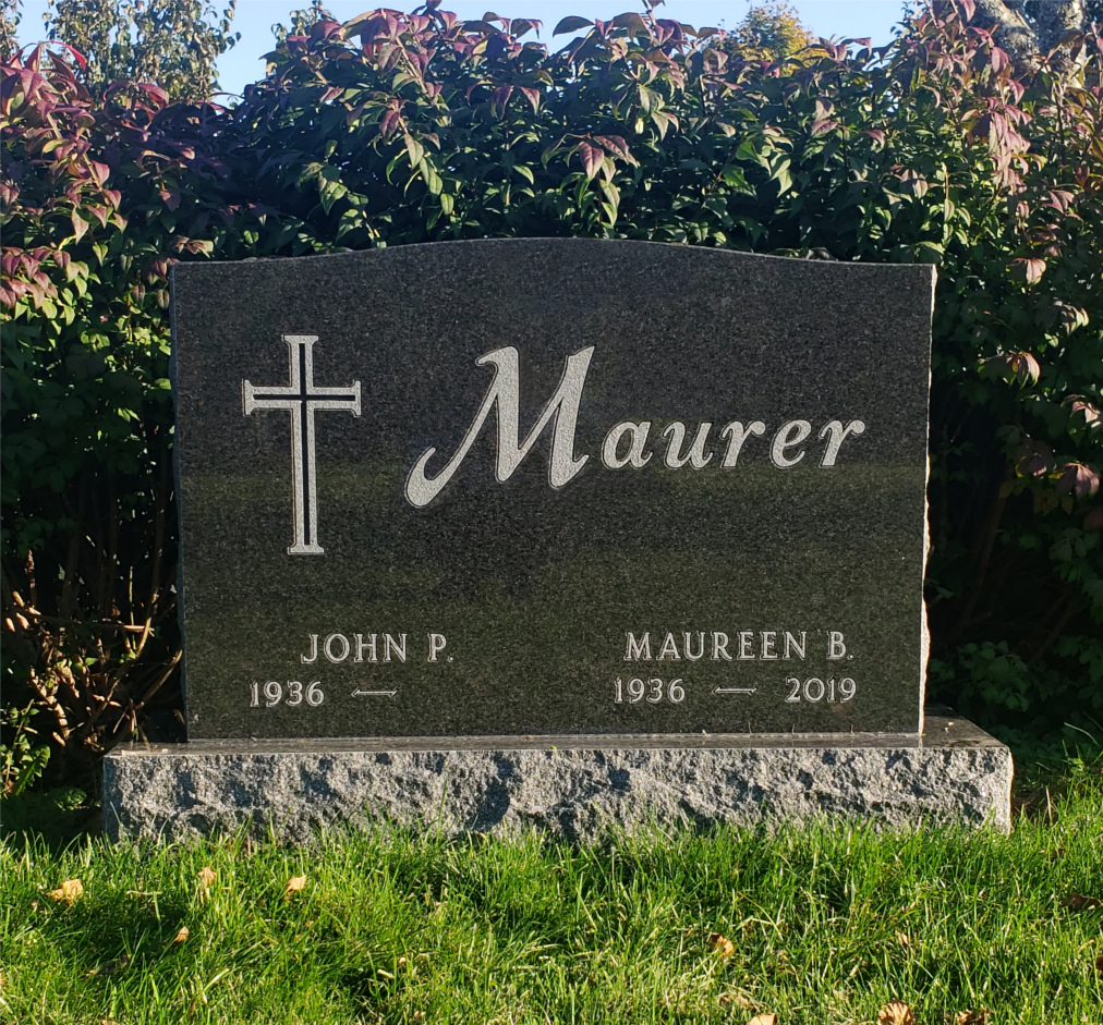 photo of black maurer family headstone