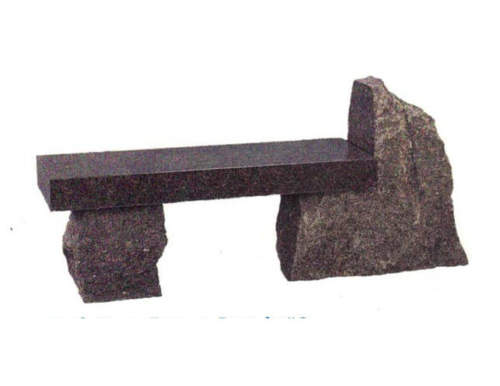 photo of brown granite bench