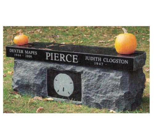 black granite one piece bench